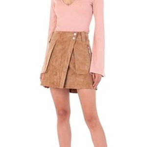 NWT Free People Carson Utility Skirt in Cam